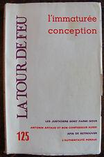 LA TOUR DE FEU, l'immaturée conception, n°125, 1975