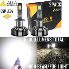 Alla Lighting LED H1 Super Short Headlight High|Low Beam|Fog Light Bulb White 2x