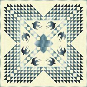 THE BLUES Quilt KIT - Quilt Pattern + Moda Fabric