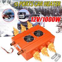 12V 6 Ports Car Vehicle Heating Underdash Heater Fan Car Defroster Demister UK