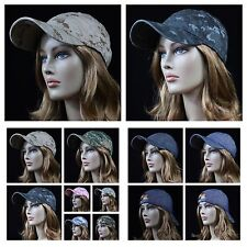 Mens Plain Baseball Cap Camouflage Caps Hunting Army Military Hip Hop Unisex Hat