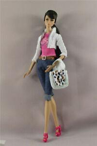 6in1 Set Fashion Jacket+vest+pants+Bag+Belt+Shoes Outfit FOR 11.5 inch Doll
