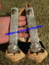 Western Bling Angled Stirrups With Conchos