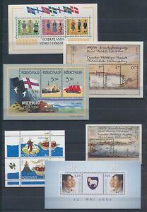 XC77316 Faroe Islands mixed thematics sheets XXL MNH