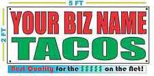 CUSTOM NAME TACOS Banner Sign NEW Larger Size Best Quality for the $$$