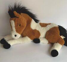 "Dan Dee Collectors Choice 24"" Horse Laying Down Plush Pinto Horse"