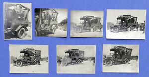 WWI - Lotto 7 fotografie Autocarro Stazione Fotoelettrica - 1917