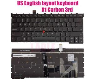 US backlit keyboard for Lenovo ThinkPad X1 Carbon 3rd Gen 2015 (Type 20BS, 20BT)