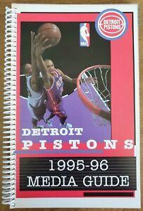 1995-96 DETROIT PISTONS MEDIA GUIDE - GRANT HILL COVER - NBA