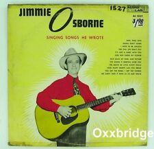 JIMMIE OSBORNE Singing Songs He Wrote AUDIO LAB  Mono RARE COUNTRY 1950's DG LP