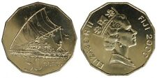 FIJI 50 CENTS 2000 Sailing canoe §202