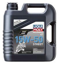 LIQUI MOLY Motocicleta 4T 15W-50 Street Aceite de Motor 4 Litro