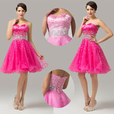 Short Party Homecoming Wedding Prom Gown Evening Cocktail Ball Dress Midi Tulle