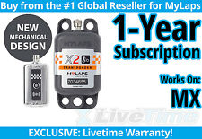 MyLaps X2 MX Rechargeable Transponder w/ 1-year Subscription -AMB Flex 260