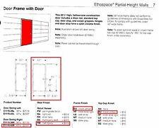 """HERMAN MILLER ETHOSPACE 42""""Wx 86""""H Door & Frame"""
