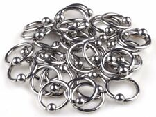 10 x Ball Closure 8mm Rings. Captive Bead Hoop Stud Ring Barbell Lip Nose Nipple