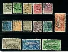 Schlesw 00006000 ig Stamps # 1-14 Used Fine Facit Cat. Val. 800dkk ($121.00) (S214)
