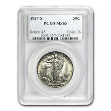 1937-S Walking Liberty Half Dollar MS-65 PCGS