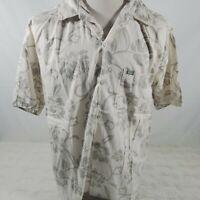 Quicksilver Mens Button Down Shirt Size XL Hawaiian Floral