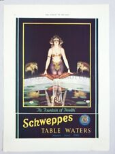 1935 SCHWEPPES TABLE WATERS Ad Advertising 10in x 13.50in