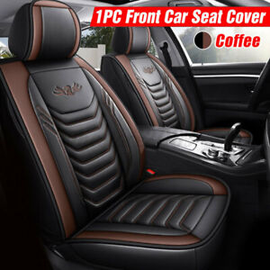 Car Seat Cover Universal PU Leather Front Cushion Mat Non-slip Protecto