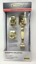 Defiant Springfield Single Cylinder Polished Brass KNOB 32HC7G1