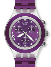 Swatch diaphane Chrono Full Blooded Blueberry svck 4048ag Artículo nuevo