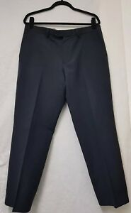 Mens M&S NavyTrousers Size W36, L29 Mens Tailoring Crease Resistant Trousers