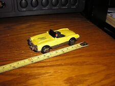 "Nice 3 3/8"" long 1/43 ? 1960's Chevy Corvette Convertible Roadster Yellow"