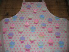 Cupcake Apron 100% Cotton Fabric Bake Cakes Polka Dot Pattern