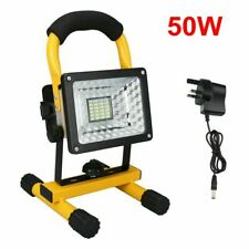 50W LED Rechargeable Cordless Work Site Flood Light Mobile Portable Camping Lamp
