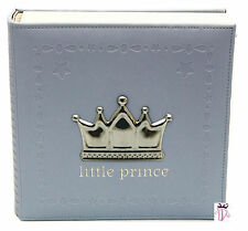 Baby Boy Blue Prince photo safe 200 slip in photo album gift Baby Boy Gift