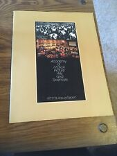 Academy of Motion Picture Arts And Sciences Annual report 1977/78 OSCARS AMPAS