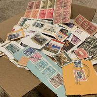 UNITED STATES STAMP LOT. 1'000's OF ON PAPER STAMPS FROM AMERICA