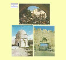 3-1970s Jerusalem Israel First Station Ascension Place & Dung Gate Postcards NM