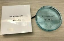 Chanel VIP gift Hydra Beauty light blue transparent small round makeup bag NIB