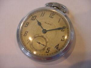 1928 16 size ELGIN model 7 grade 291 ANTIQUE POCKET WATCH NO Reserve!