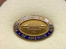 Football Writers Association Of America Vintage Very Rare Stunning Press Pin.