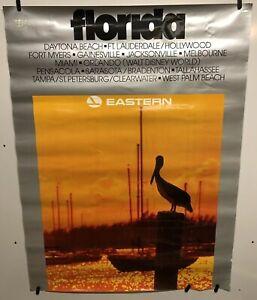 Original vintage travel Airline poster Florida Eastern Airlines 30x40