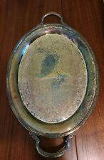 Vintage Camille International Silver Company 6081 Large Serving Tray w/handles.