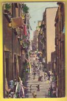 Old Postcard 1910 ca NAPOLI Pallonetto Santa Lucia ITALY Postal Cartolina ITALIA