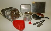 Vintage Child's Toy Aluminum Bakeware Kitchen Cookware Estate Lot