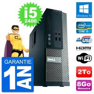 PC Dell OptiPlex 390 SFF Intel i5-2400 RAM 8Go Disque 2To HDMI Windows 10 Wifi