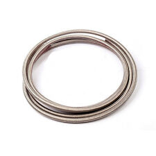 10 Feet -6 AN Nylon Stainless Steel Braided Fuel Gas Oil Line Hose AN6  Silver