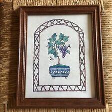 "Vintage 11 1/2"" x 9"" Print of Potted Grape Plant"