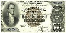 PHOTO MAGNET USA Reproduction 1880 100 Dollars Silver Certificate MAGNET