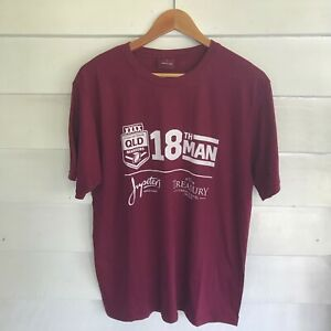 NRL Queensland Maroons 18th Man Rugby League QLD Men's Size L T-shirt