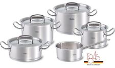 Fissler Original-Profi Collection 9-Piece Cookware Set With Stainless Steel Lids