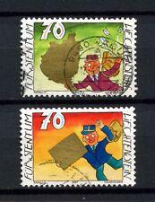 Liechtenstein 2001 SG # 1241-2 salutation cachets utilisés set #a 3373