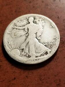 1916 D Walking Liberty Silver Half Dollar, key date      INV08     HL8118
